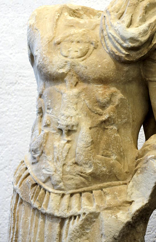 A torso in armour. Marble. 1st century CE. Bergamo, Civic Archaeological Museum