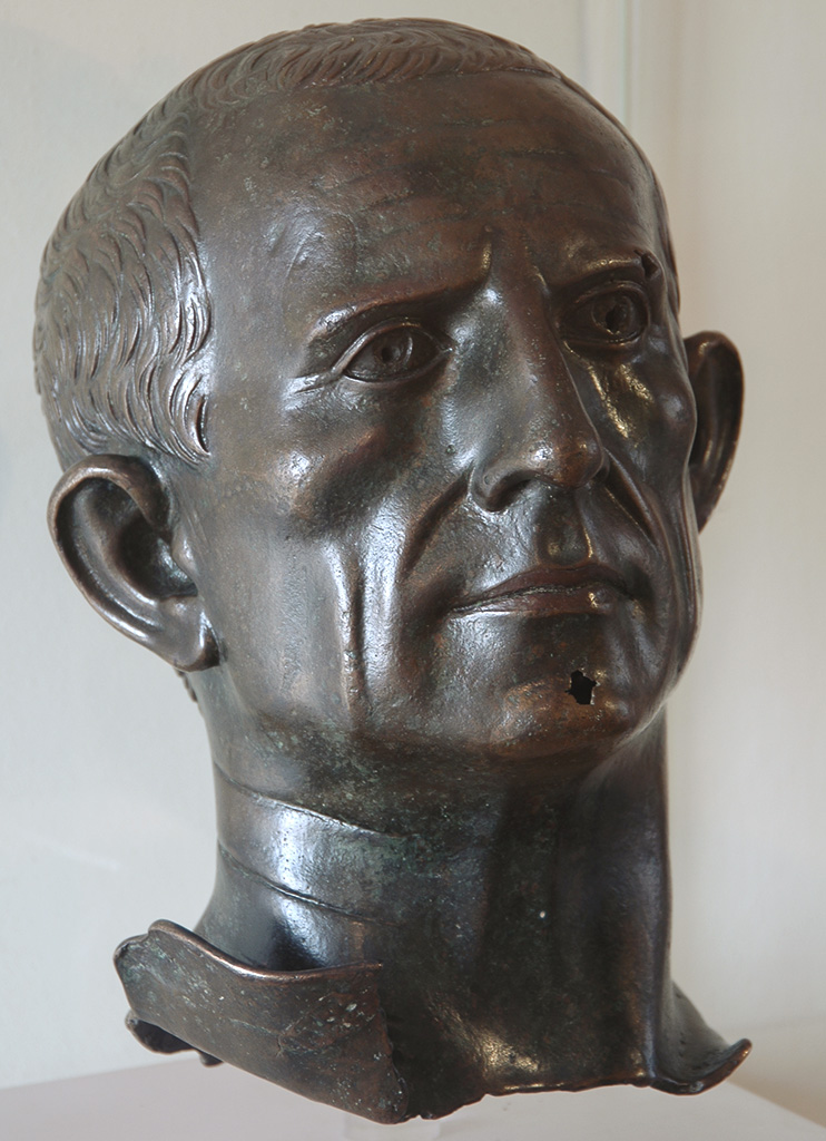 Portrait of an unknown man. Bronze. End of the Augustan period. Verona, Archaeological Museum