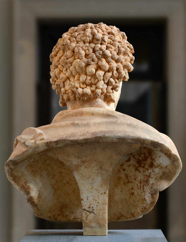 Portrait of a young man (back view). Marble. 161—180 CE. Inv. No. L.2007.8.12. New York, the Metropolitan Museum of Art