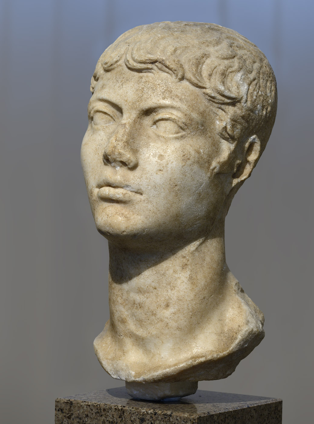 "Portrait of an youth (the so-called ""Lange youth""). Marble. Early 1st cent. CE. Inv. No. II 1a 1047. Moscow, the Pushkin Museum of Fine Arts"