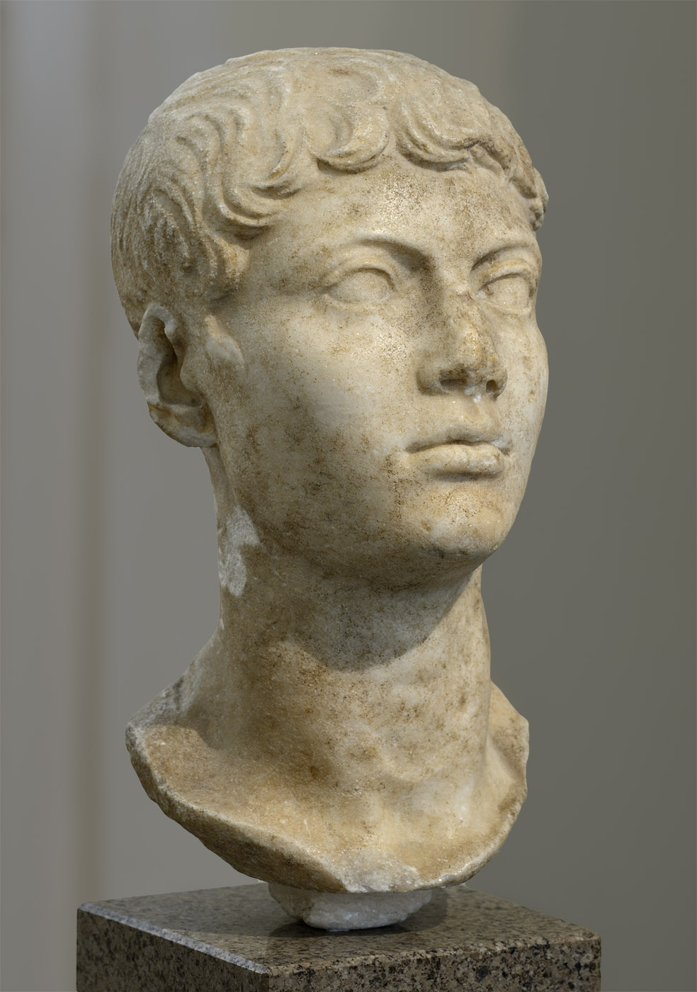 """Portrait of an youth (the so-called """"Lange youth""""). Marble. Early 1st cent. CE. Inv. No. II 1a 1047. Moscow, the Pushkin Museum of Fine Arts"""