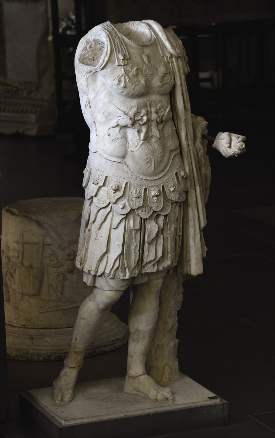 Statue of a general in armour. Marble. Age of Nero (54—68 CE).  Inv. No. 9948. Rome, Vatican Museums, Gregorian Profane Museum