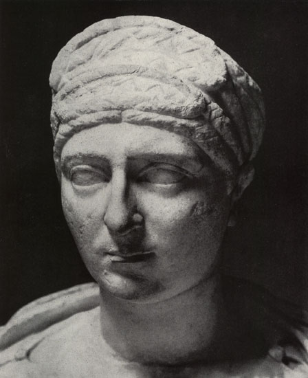 Bust of a Roman woman. Marble. 98—117 CE. Moscow, the Pushkin Museum of Fine Arts