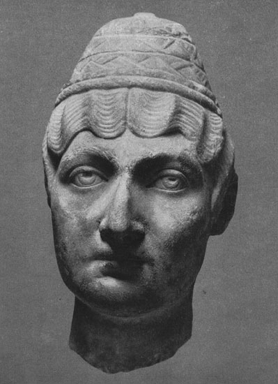 Female head from Ostia. Marble. Border of the 2nd—3rd centuries. Moscow, the Pushkin Museum of Fine Arts