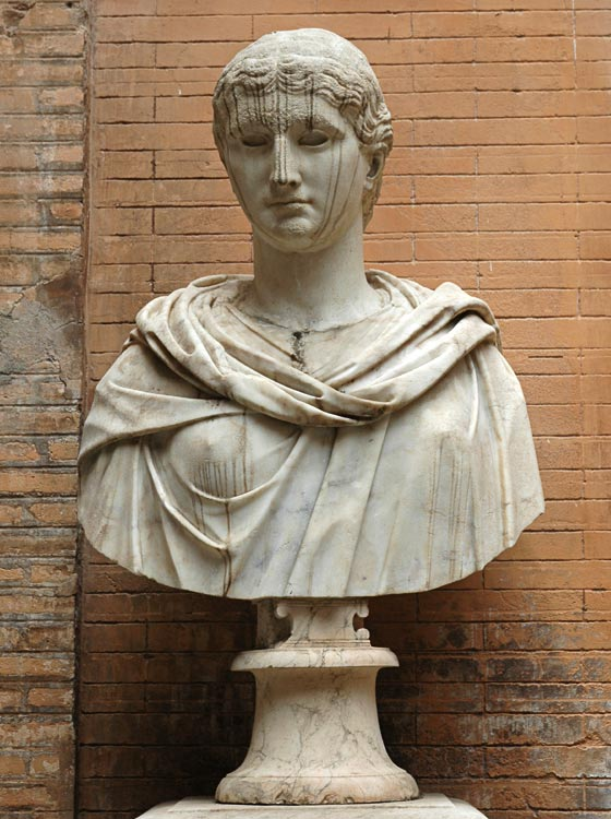 Bust with the head of an idealized woman. Marble. Head: age of the early empire; bust: modern. Inv. No. MC10. Rome, Capitoline Museums, Palazzo Nuovo, Courtyard