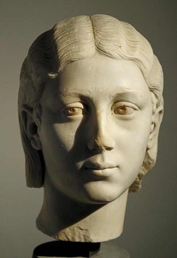 "A female portrait. Marble. First decades of the 3rd century CE. Inv. No. MC 242. Cremona, ""Ala Ponzone"" City Museum"