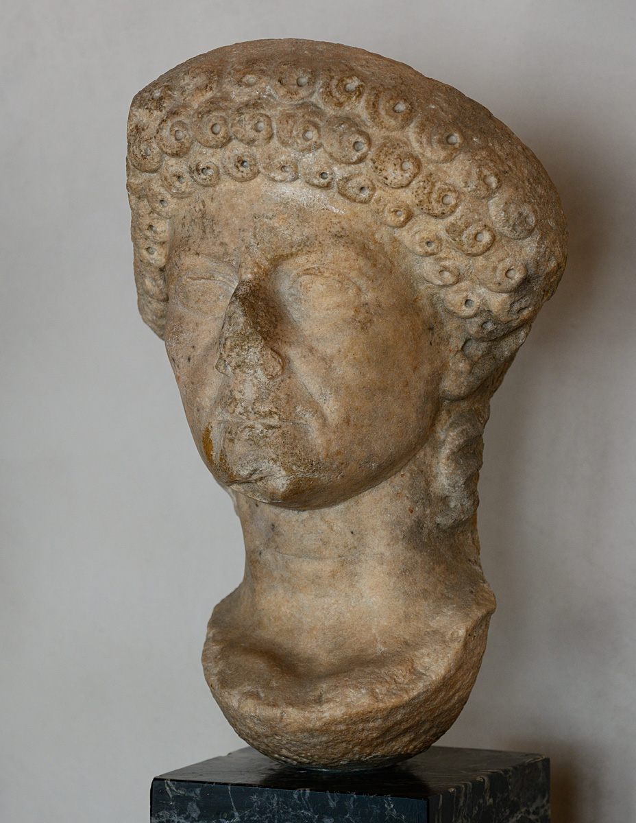 Head of a female portrait. Marble. 1st cent. CE. Torcello, Museum of Torcello, archaeological section