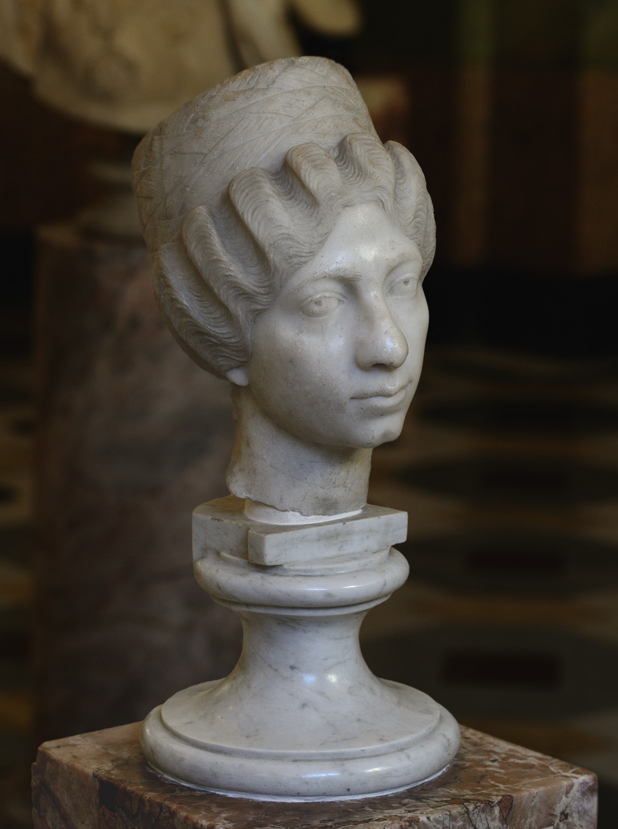"Female portrait, so-called ""Syrian lady"". Marble. Third quarter of the 2nd cent. CE. Inv. No. A 583. Saint Petersburg, The State Hermitage Museum"