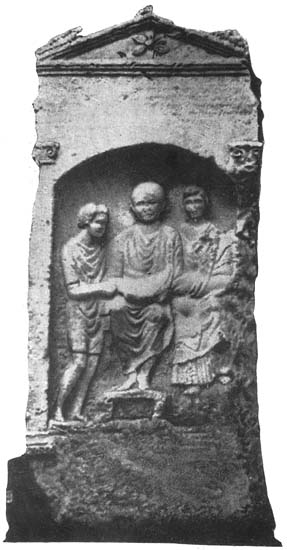 Headstone of Philocalus. 1st century. Naples, National Archaeological Museum