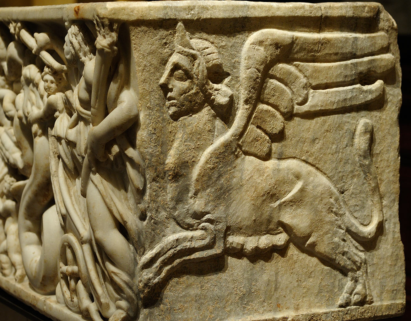 Side panel of a sarcophagus with a scene of abduction of Persephone by Hades. Marble. Beginning of the 3-в cent. CE. Inv. No. I 1126. Vienna, Museum of Art History