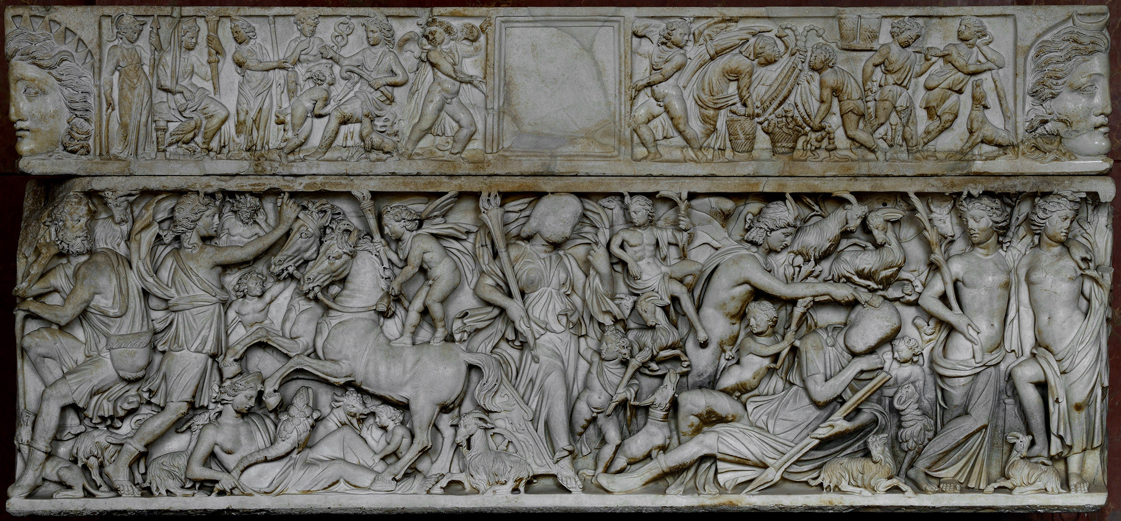 Sarcophagus with a myth of Selene and Endymion. Marble. Ca. 235 CE. L. 209 cm, H. 95 cm, B. 61 cm. Inv. No. Ma 1335. Paris, Louvre Museum
