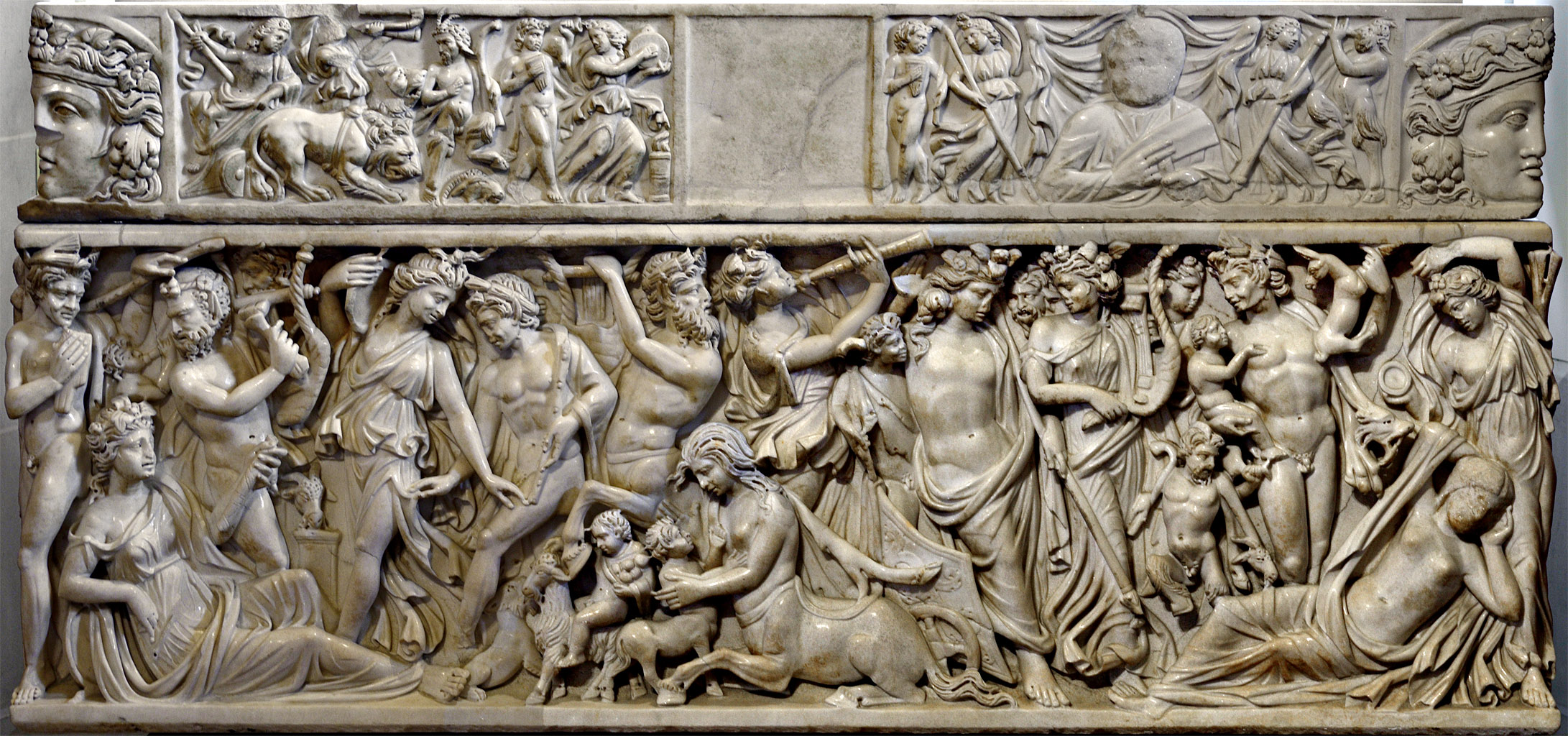 Sarcophagus with a myth of Dionysus and Ariadne. Marble. Ca. 235 CE.  Inv. No. Ma 1346. Paris, Louvre Museum