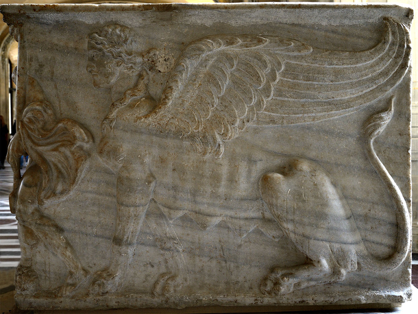 Sarcophagus with scenes from the myth of Meleager (side panel). Marble. Roman work ca. 180 CE. Inv. No. Ma 539. Paris, Louvre Museum