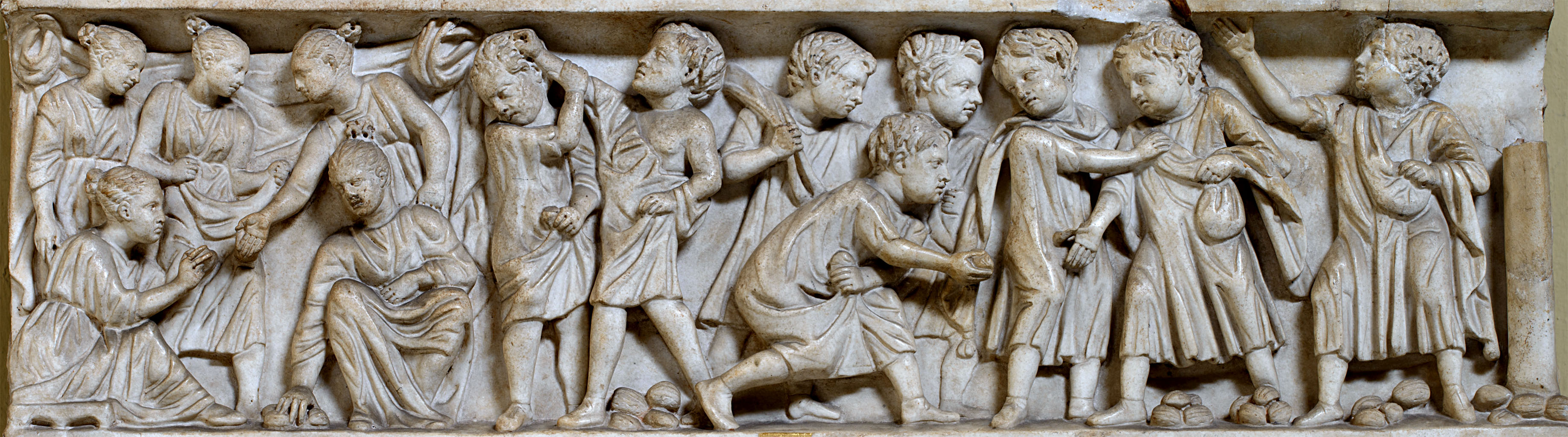 Sarcophagus of a child. Marble. Mid-3rd cent. CE. Inv. No. 1304. Rome, Vatican Museums, Chiaramonti Museum, VII. 21