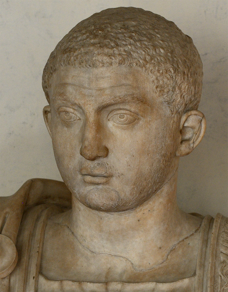 Severus Alexander (close-up). Marble. 222—235 CE. Florence, Gallery of Uffizi