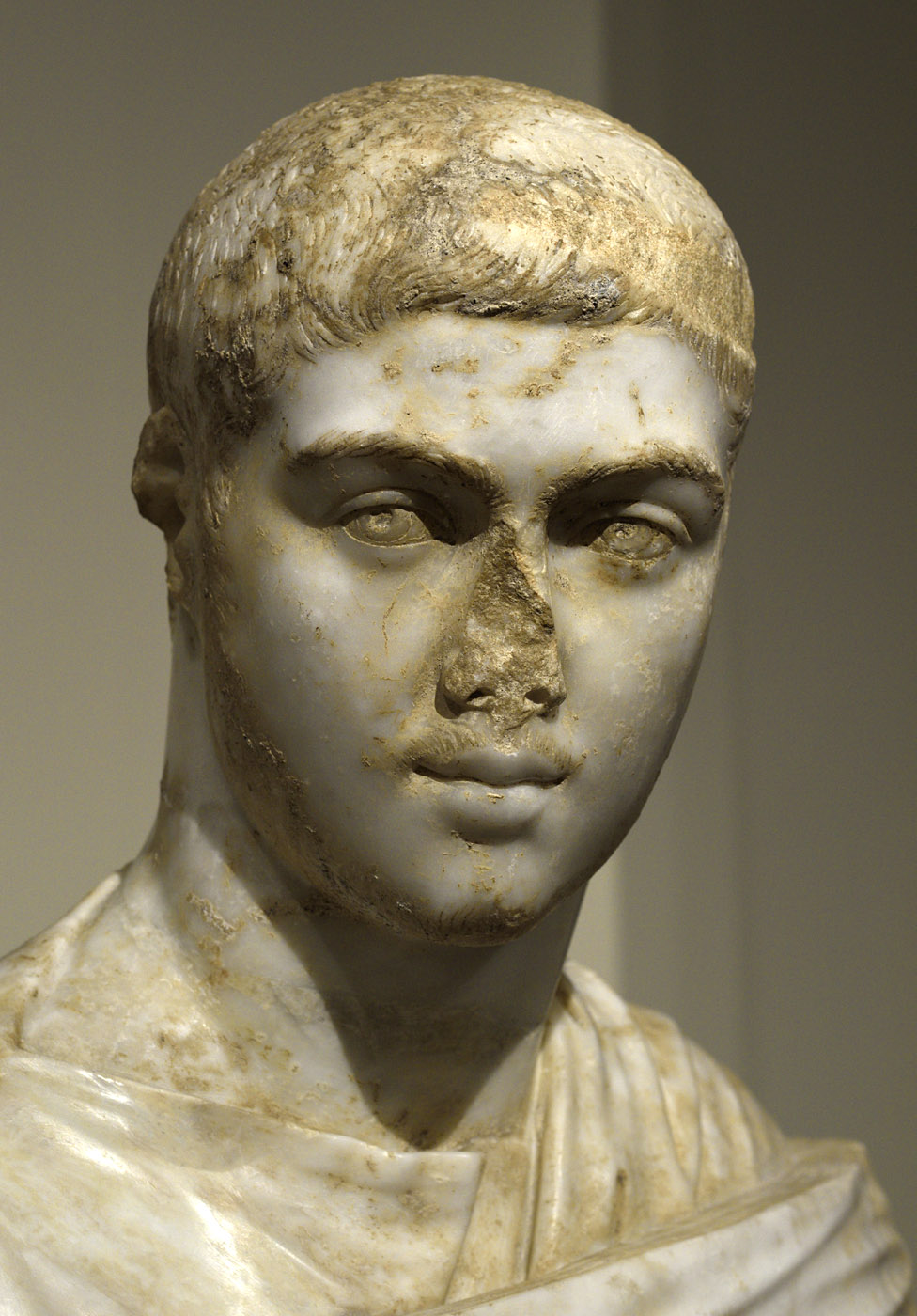 Portrait bust of Severus Alexander (close-up). Marble. 230—235 CE. Inv. No. 2011.87. New York, the Metropolitan Museum of Art