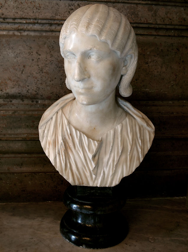 Julia Mamaea. Marble. 222—235 CE.  Inv. No. MC457. Rome, Capitoline Museums, Palazzo Nuovo, Hall of the Emperors