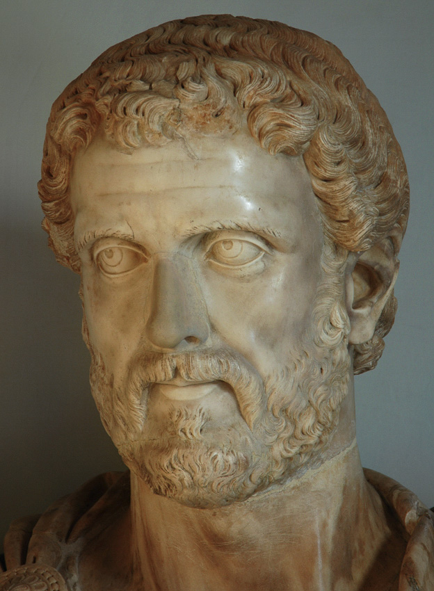 Bust of Antoninus Pius. Detail. Marble. 16th century. Inv. No. MC643. Rome, Capitoline Museums, Palazzo Nuovo, Great Hall