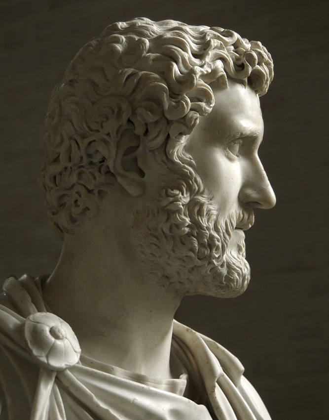 Bust of the emperor Antoninus Pius. Detail. Marble. Ca. 150 CE. Inv. No. 337. Munich, Glyptotek