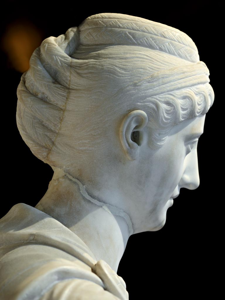 Faustina the Elder (detail). Marble. Mid-2nd century. Inv. No. AS I 12. Vienna, Museum of Art History