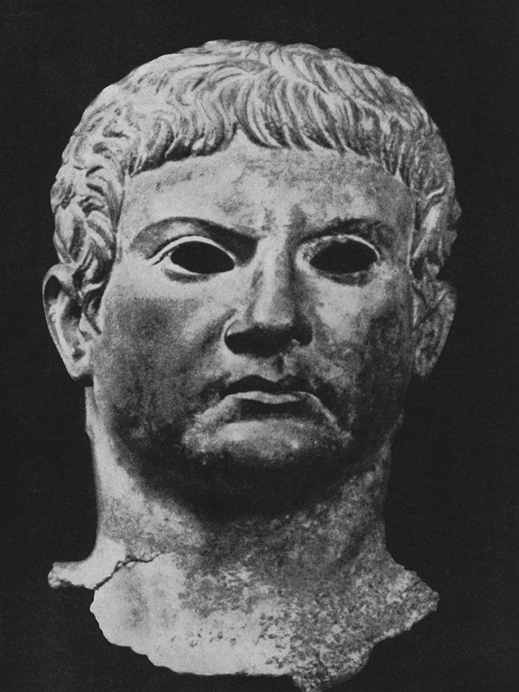 Head of a man (Agrippa?). Bronze. Age of August. New York, the Metropolitan Museum of Art