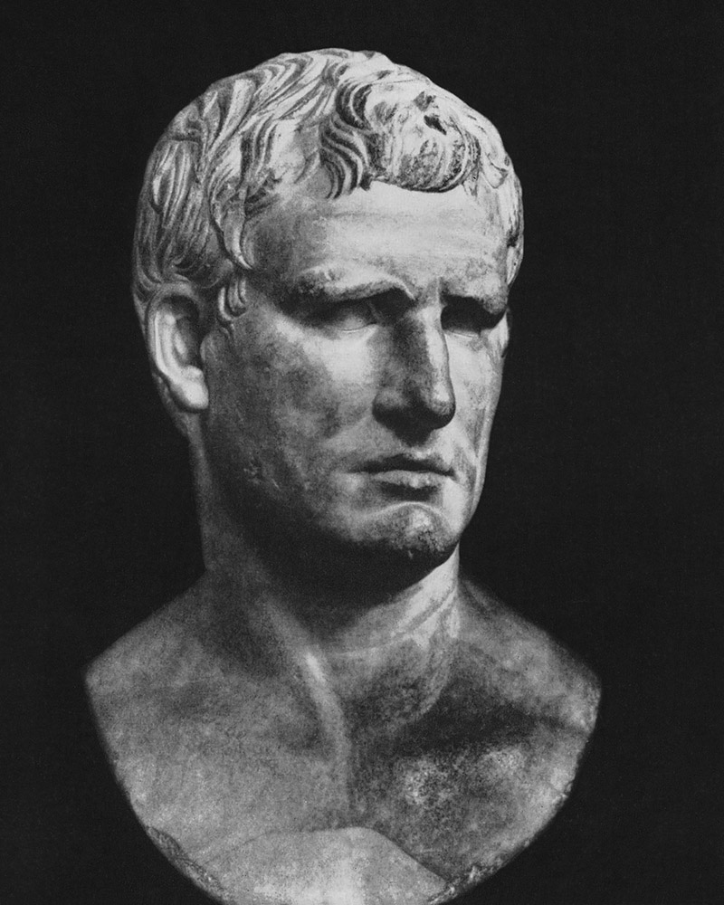 Bust of Agrippa. Marble. Ca. 25 BCE. Paris, Louvre Museum