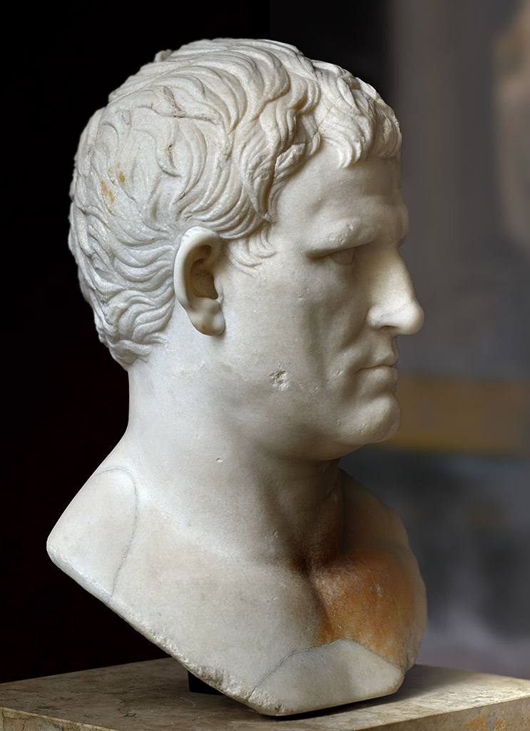 Agrippa. Marble. Circa 25—24 BCE. Height 46 cm. Inv. No. MR 402 (Ma 1208). Paris, Louvre Museum