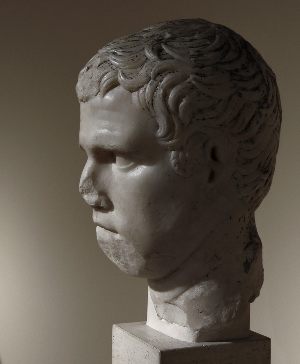 Portrait of Marcus Vipsanius Agrippa. Luna marble. 1st century CE. Inv. No. MC 2760. Rome, Capitoline Museums, Museum Montemartini (Centrale Montemartini), I. 62