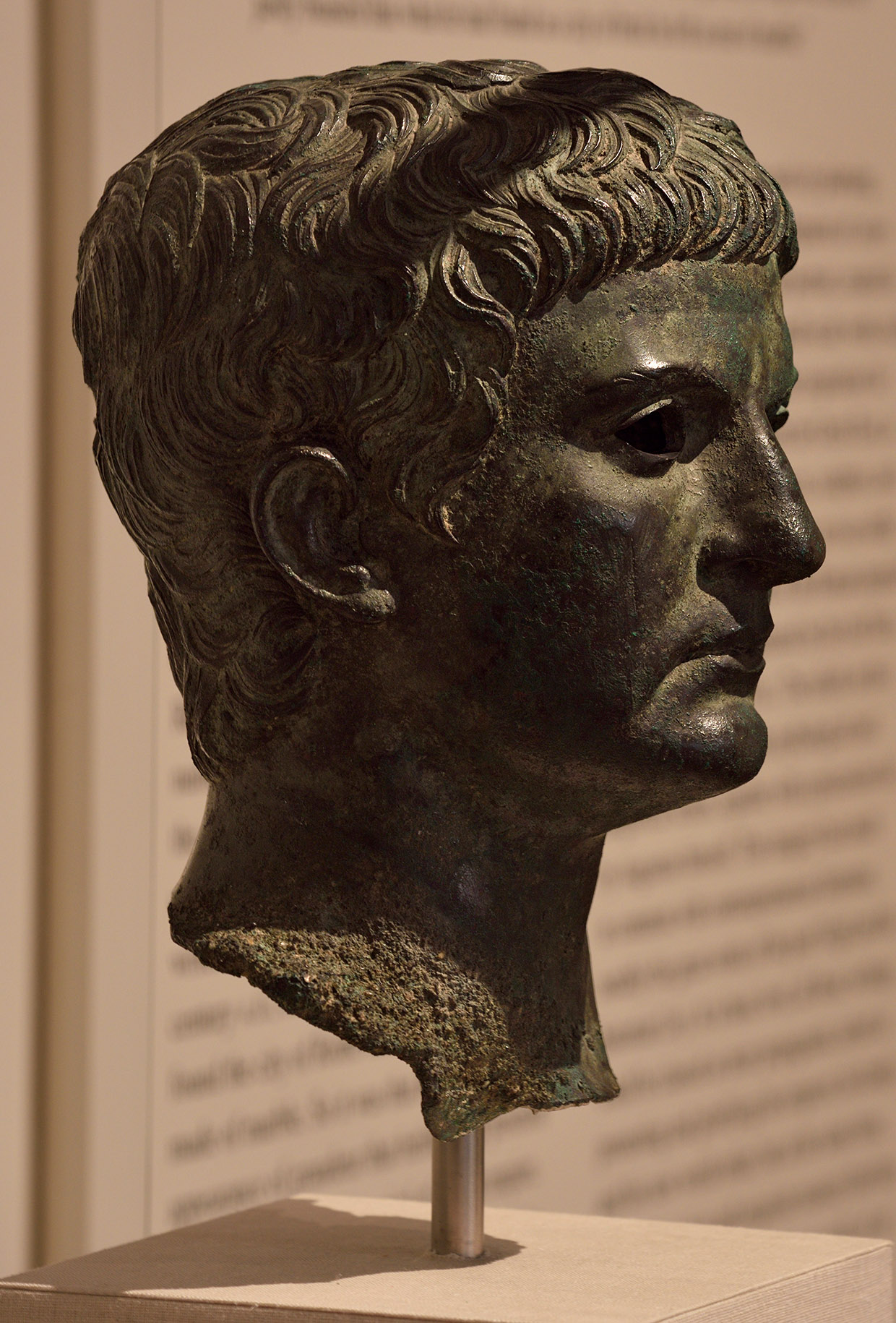 Bronze portrait of a man, identified as Marcus Agrippa. Bronze. Roman. Early 1st cent. CE. Inv. No. 14.130.2. New York, the Metropolitan Museum of Art