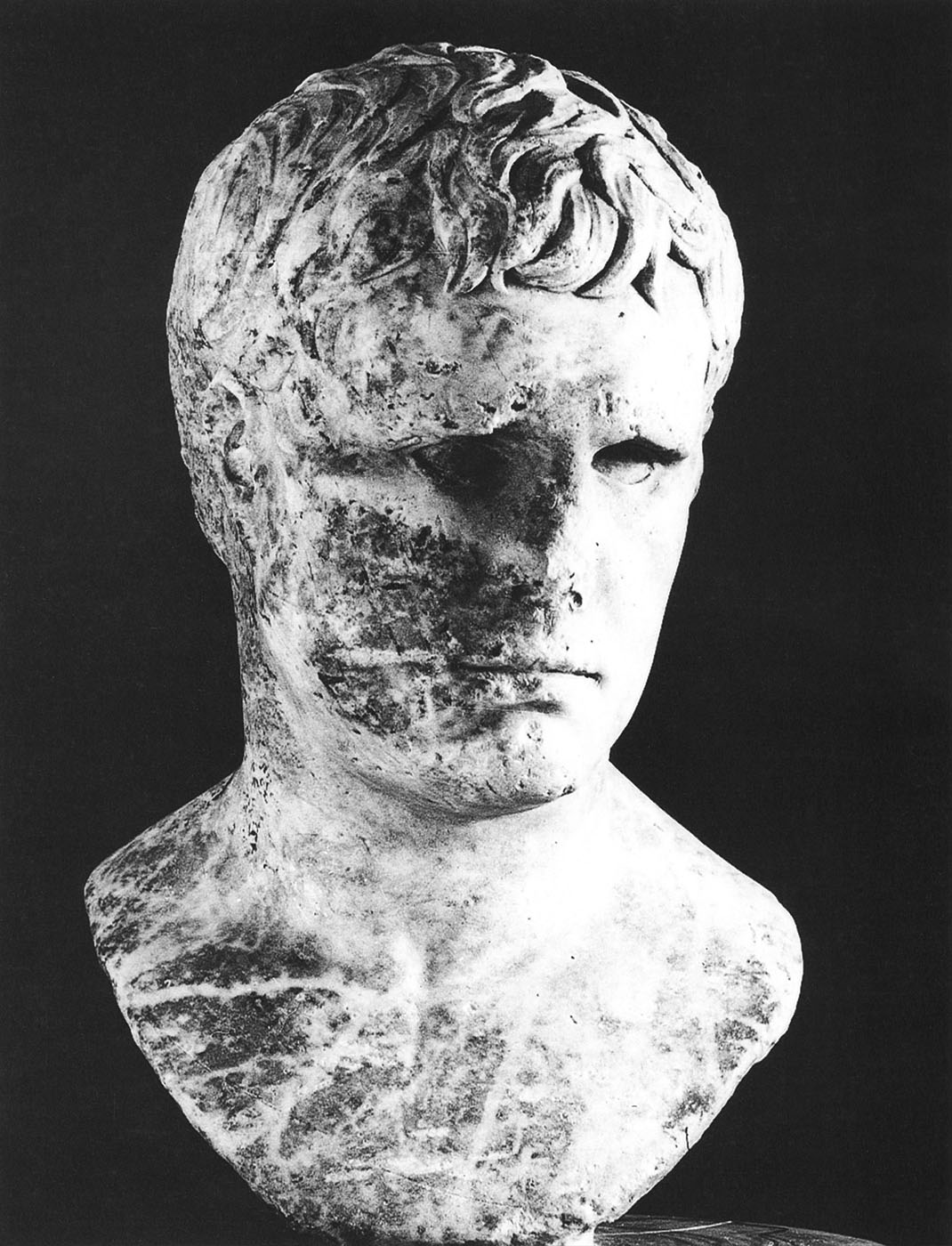 Marcus Vipsanius Agrippa. White marble. Early Augustan Age. Vibo Valentia, State Archaeological Museum