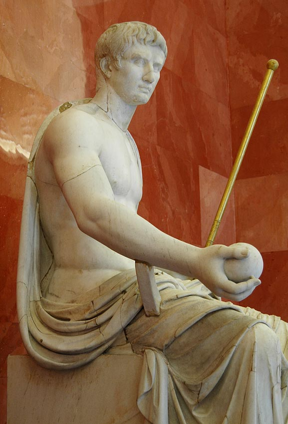 Octavian August as Jupiter. Marble. First quarter of the 1st century. Saint Petersburg, The State Hermitage Museum