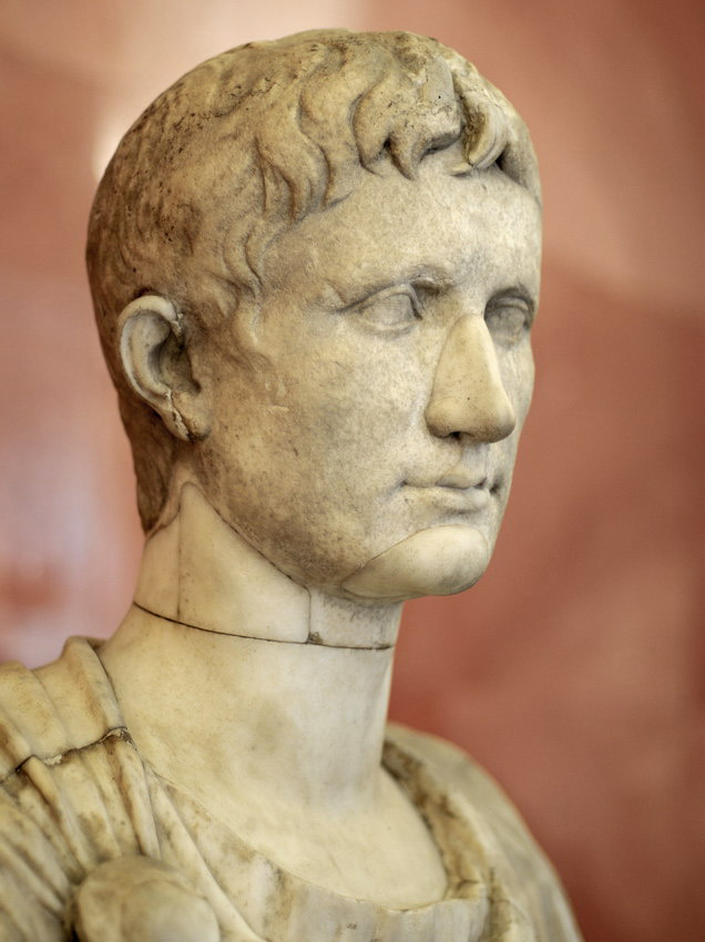 Portrait of the emperor Octavian August. Detail. Marble. First quarter of the 1st century. Inv. No. A 284. Saint Petersburg, The State Hermitage Museum