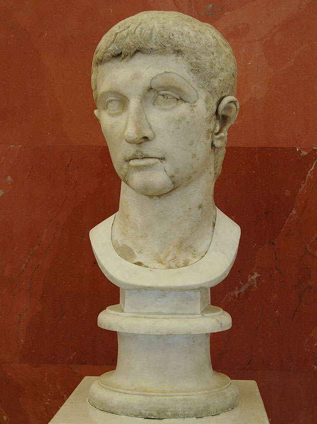 Portrait of the emperor Octavian August. Marble. First half of the 1st century. Saint Petersburg, The State Hermitage Museum