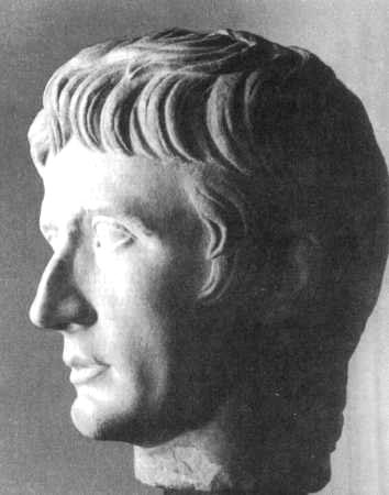 Head of the emperor August. Marble.
