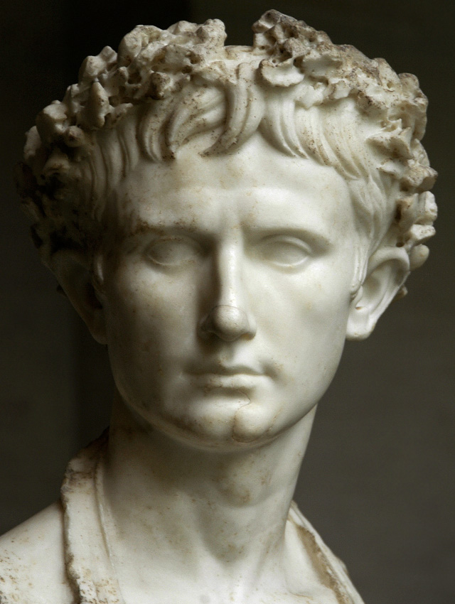 Bust of August wearing the civic wreath (corona civica). Marble. Ca. 40—50 CE. Inv. No. 317. Munich, Glyptotek