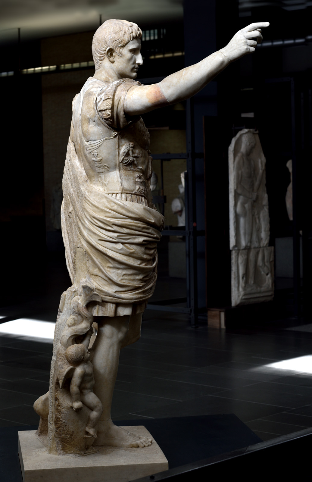 Statue of August from Prima Porta. Marble. Ca. 20—17 BCE. Inv. No. 2290. Rome, Vatican Museums, Chiaramonti Museum, New wing, 14