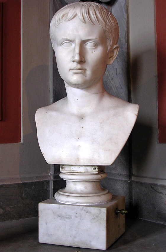 The head of Gaius Caesar? Marble. Inv. No. 714. Rome, Vatican Museums, Pius-Clementine Museum, Gallery of the Busts, 123