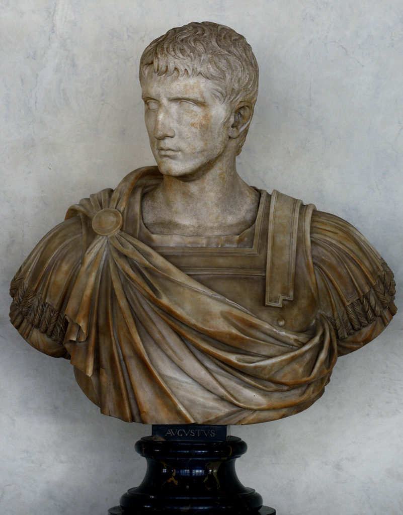 A member of the Julio-Claudian dynasty. Antique part: Greek marble. Bust: modern work.  Inv. No. 83 (1914). Florence, Gallery of Uffizi