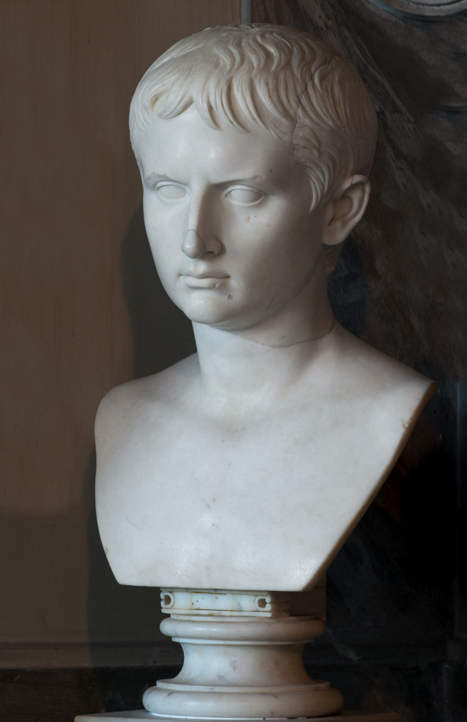 Gaius Caesar (?). Marble. Inv. No. 714. Rome, Vatican Museums, Pius-Clementine Museum, Gallery of the Busts, 123