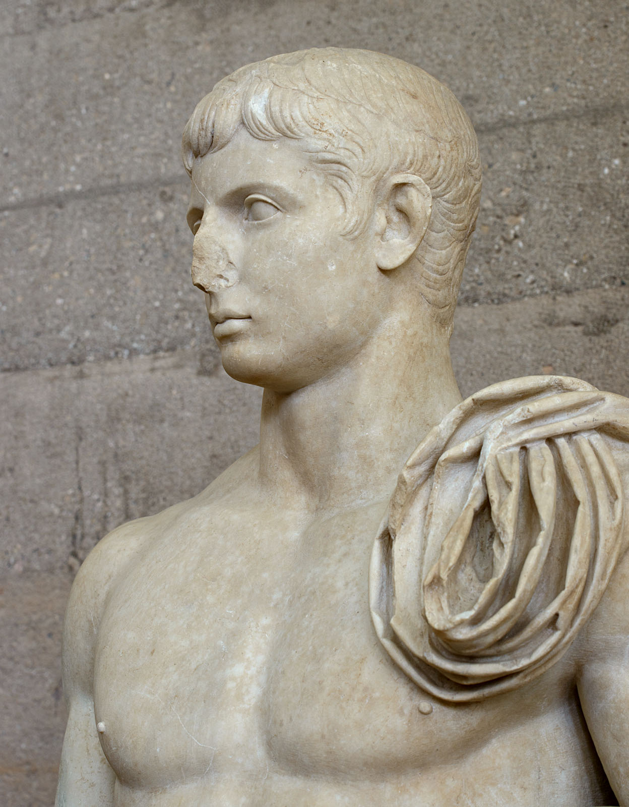 Gaius Caesar. Marble. Neo-Attic work. 1—14 CE. Inv. No. S-1080. Corinth, Archaeological Museum of Ancient Corinth