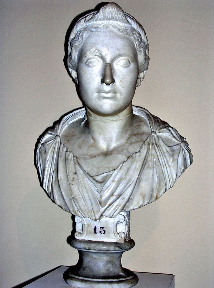 Female portrait. Parian marble. Last decade of the 1st century BCE. Inv. No. MC 1081. Rome, Capitoline Museums, Museum Montemartini (Centrale Montemartini), I. 51