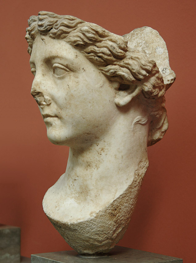 Livia as Salus. Marble. 41—54 CE. {Height 47 cm.--> Inv. No. 1422. Copenhagen, New Carlsberg Glyptotek