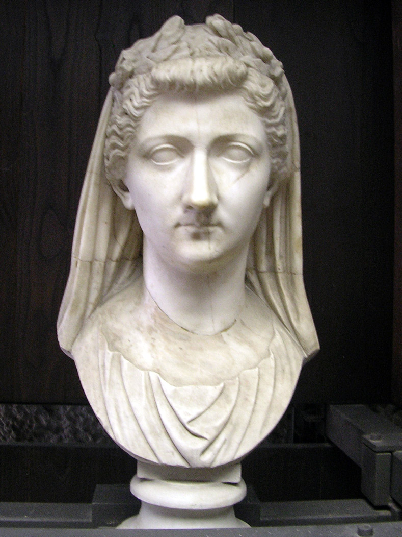 Livia. Marble. Height 0,32 m. Late Augustan or Tiberian. Inv. No. 10204. Rome, Vatican Museums, Gregorian Profane Museum