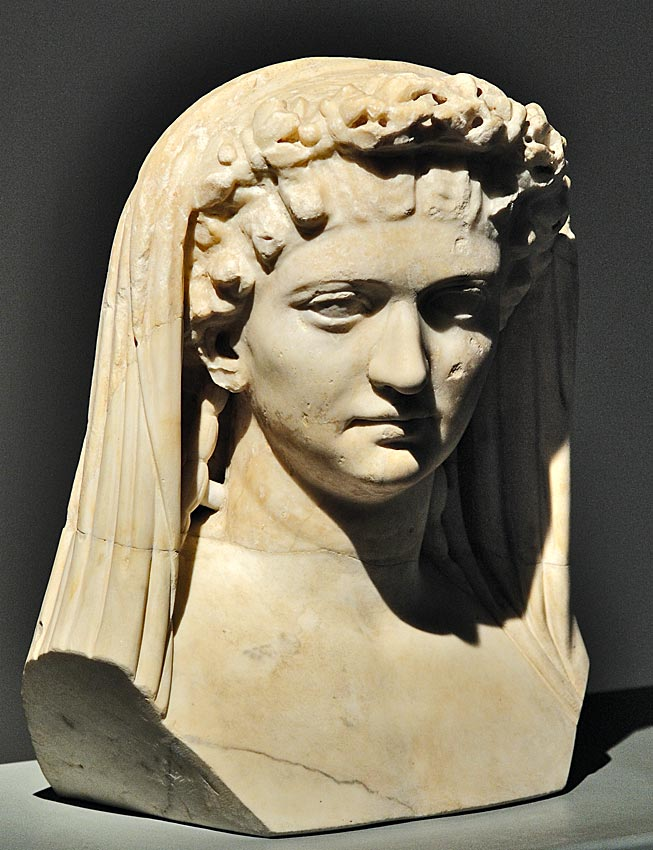 "Livia, wife of August. Marble. Second quarter of the 1st cent. CE. Inv. No. MC 239. Cremona, ""Ala Ponzone"" City Museum"
