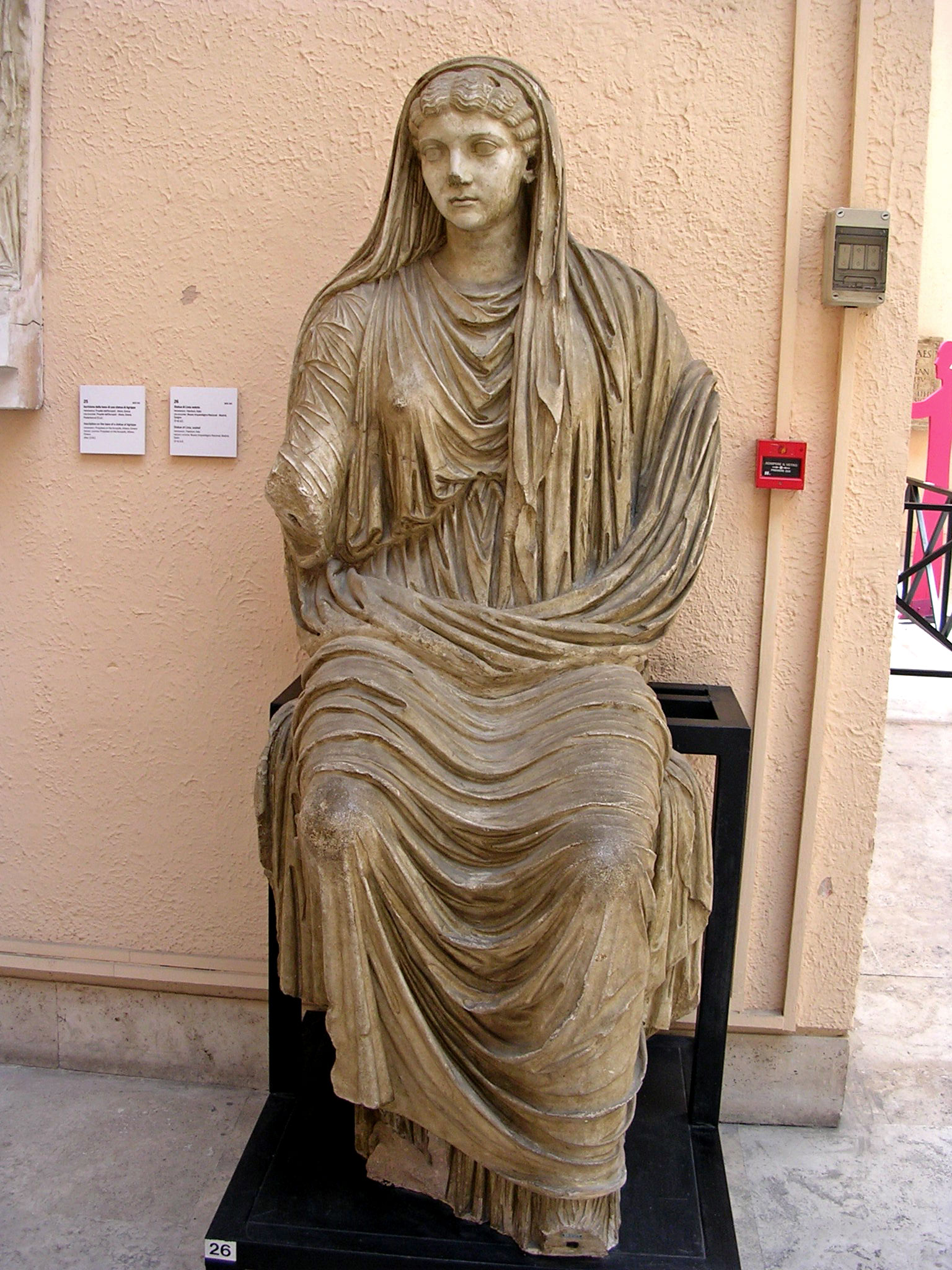 Statue of seated Livia. First quarter of the 1st century CE. Plaster cast. Rome, Museum of Roman Civilization