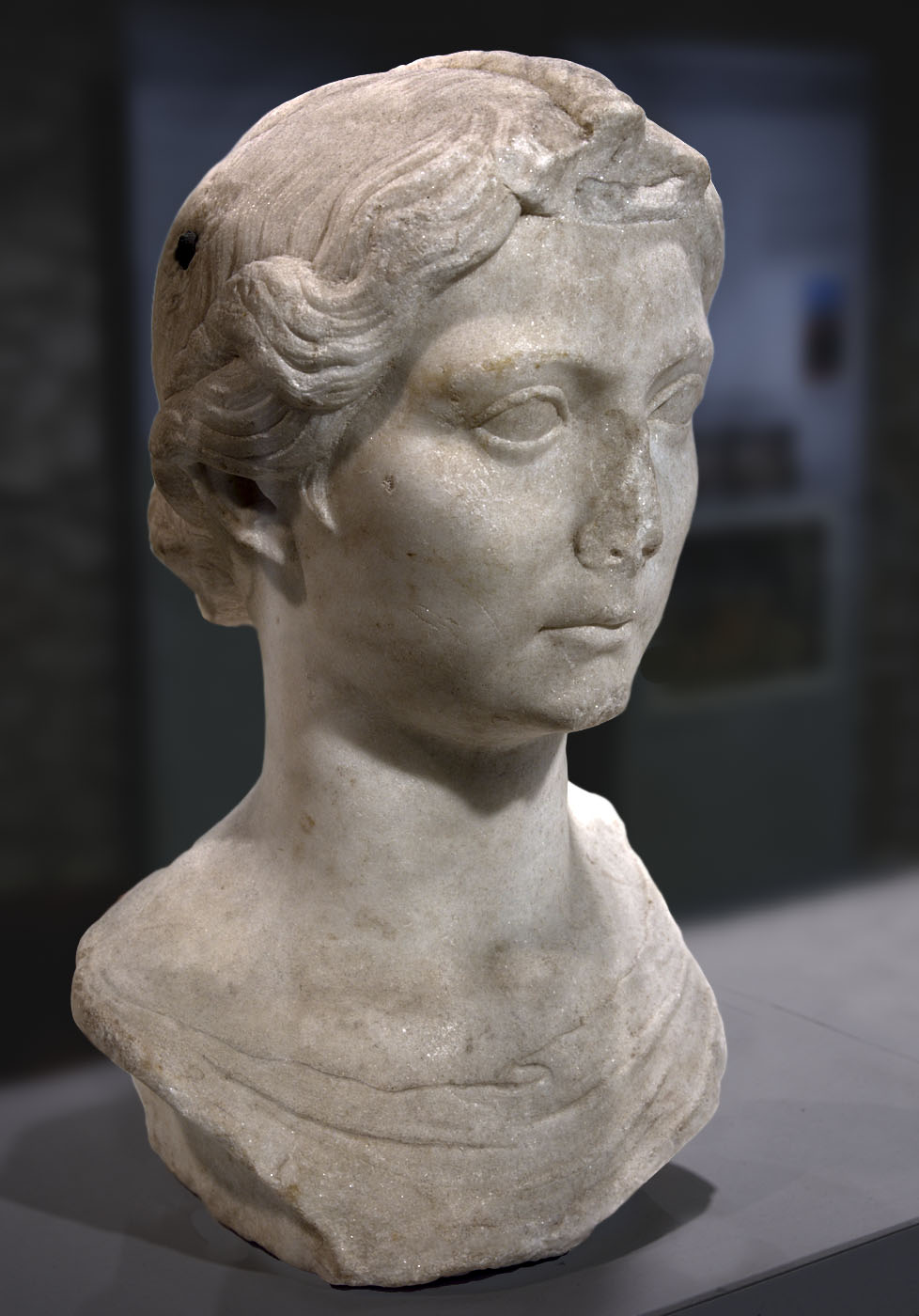 Livia, wife of August. Pentelic marble. End of the 1st cent. BCE — beginning of the 1st cent. CE. Rome, National Roman Museum, Crypta Balbi