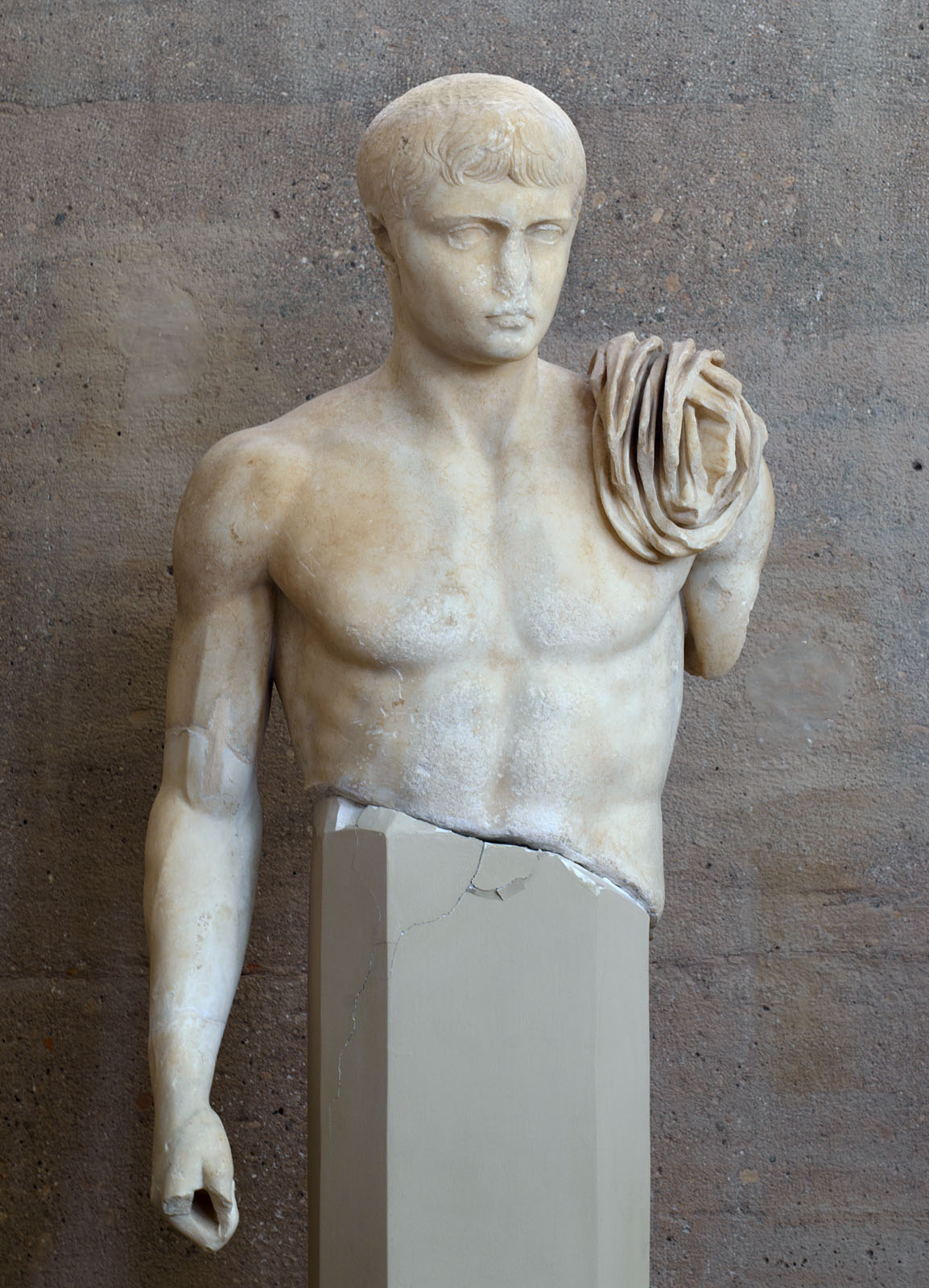 Lucius Caesar. Marble. Neo-Attic work. 1—14 CE. Inv. No. S-1065. Corinth, Archaeological Museum of Ancient Corinth