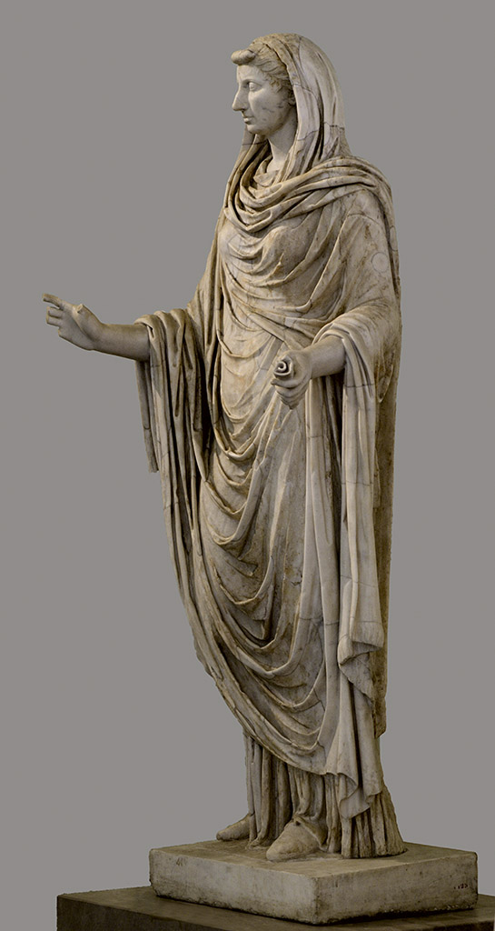 Octavia Minor as a Sybil. Marble. Beginning of 1st cent. CE. Inv. No. 6125. Naples, National Archaeological Museum