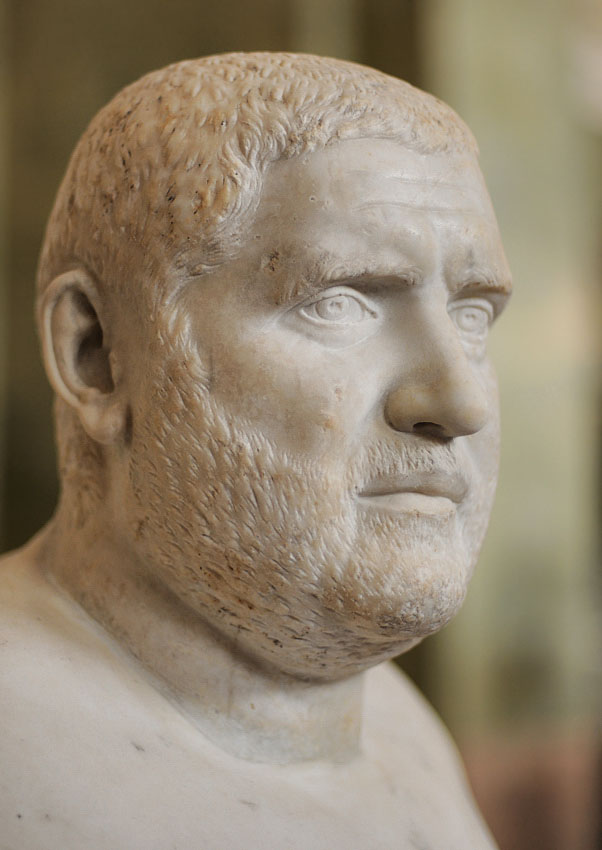Bust of Balbinus. Marble. 2nd quarter of the 3rd century CE. Inv. No. A 250. Saint Petersburg, The State Hermitage Museum