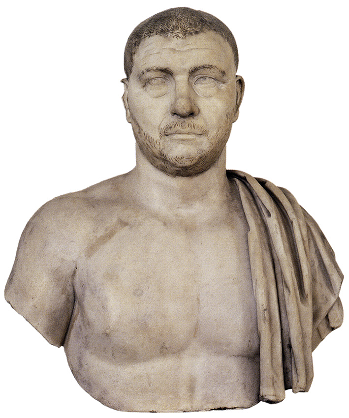Male portrait — Balbinus. Marble. First half of the 3rd cent. CE.  Inv. No. 8. Venice, National Archaeological Museum
